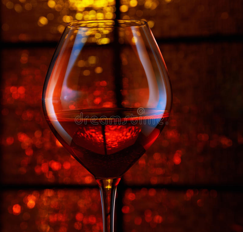 Download Holiday Lights And Wineglass Stock Image - Image: 27596411