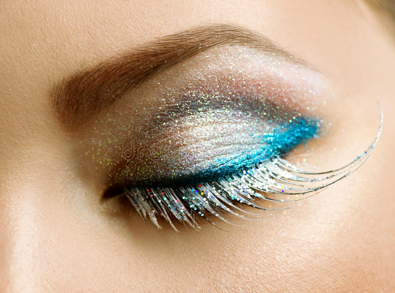 Download Holiday Make-up stock photo. Image of creative, blue - 27989312