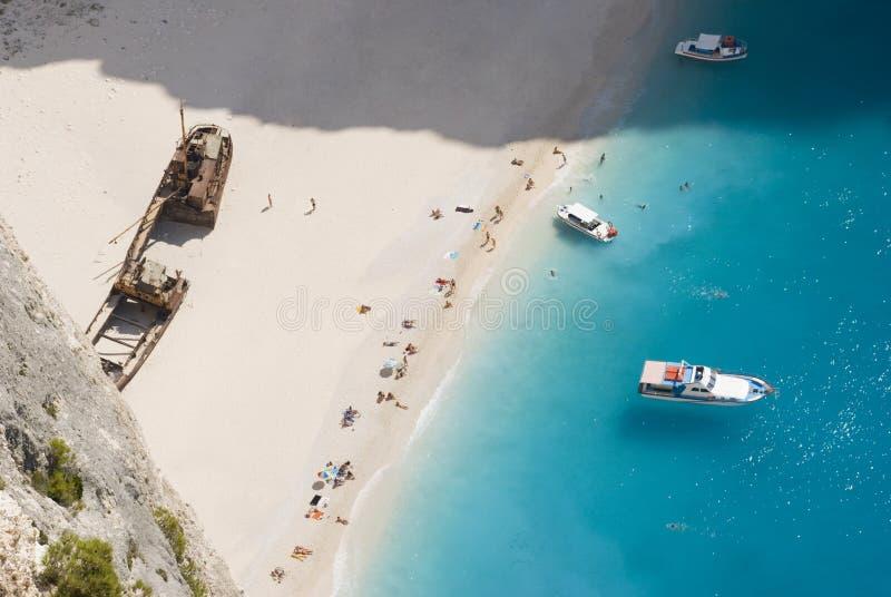 Holiday-maker do Shipwreck de Zakynthos foto de stock royalty free