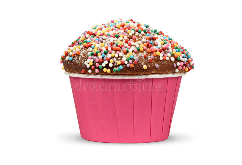 Holiday muffin isolated. On a white background royalty free stock images