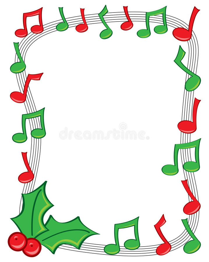 holiday music border stock vector illustration of december 22257165 rh dreamstime com music note border clipart music border clip art free