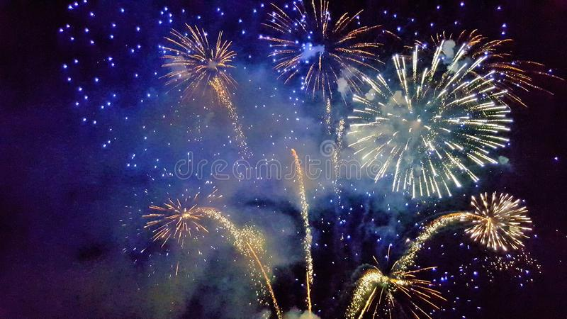 Holiday, new year, fireworks, fun, joy,Universal fun, celebration, lights, New Year`s attributes stock images