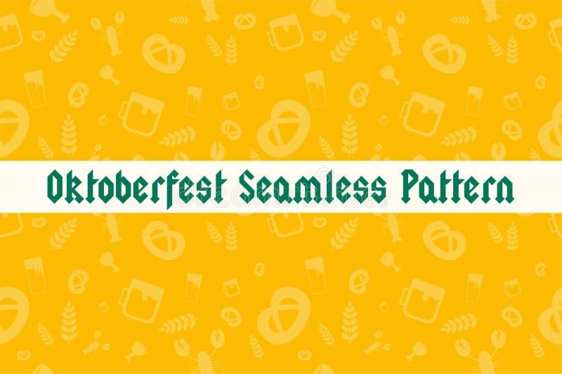 Holiday Oktoberfest Seamless Pattern vector illustration