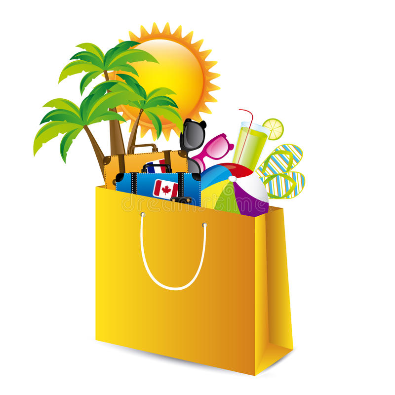 Holiday packing vector illustration
