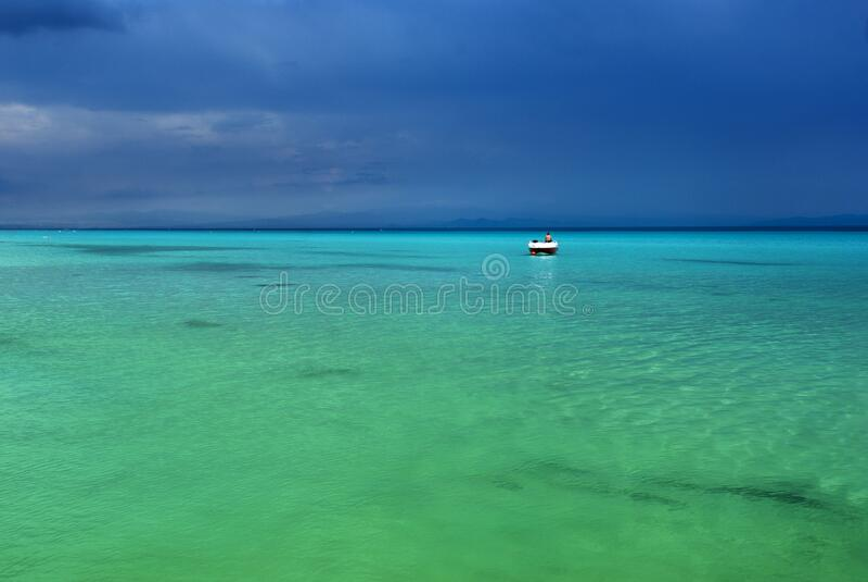 Holiday at the paradise beach stock image