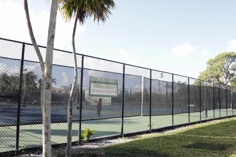 Holiday Park Jimmy Evert Tennis Center royalty free stock photos