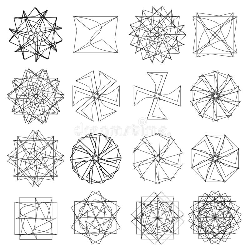 Holiday patterns of stars and flowers for gifts ground stock photos