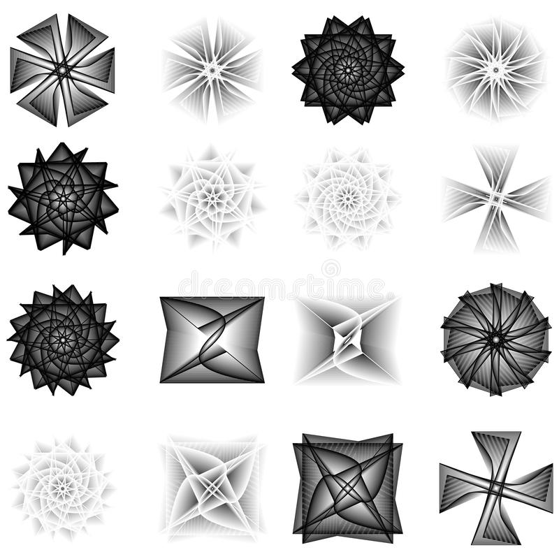 Holiday patterns of stars and flowers for gifts ground stock photography