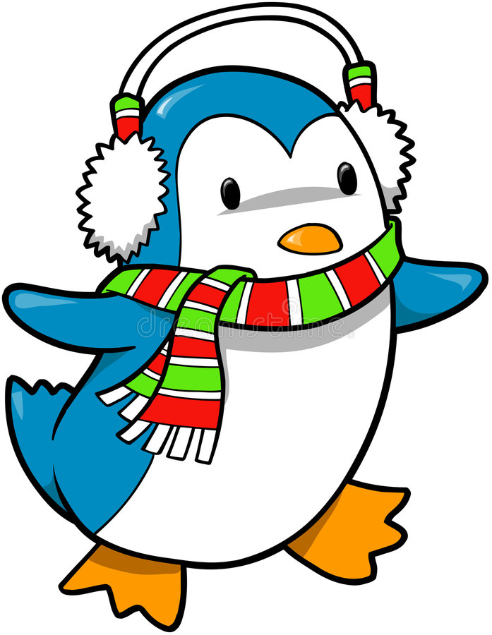 Holiday Penguin Vector royalty free illustration