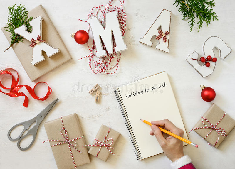 Holiday planning concept stock image