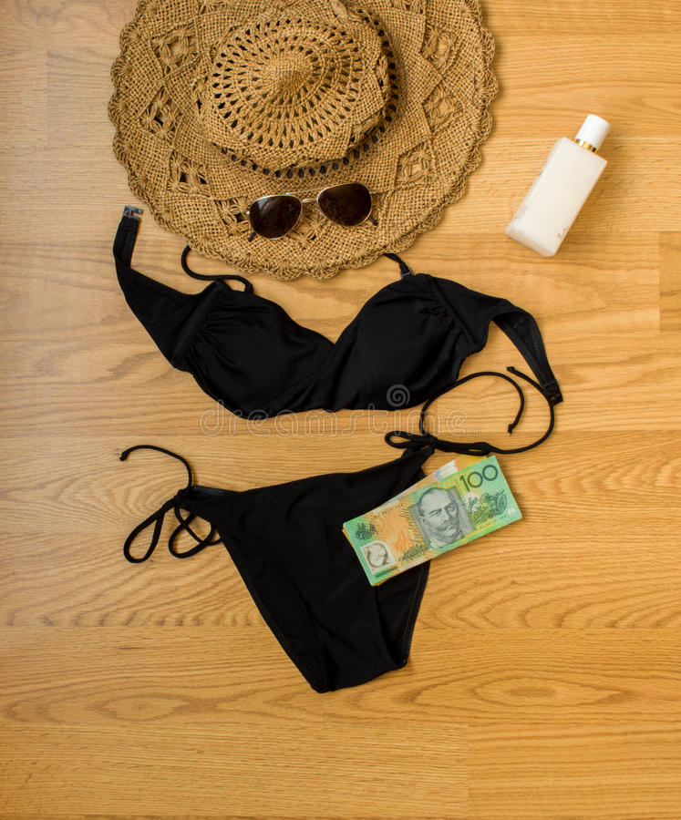 Holiday preparation. For summer, accessories royalty free stock photography