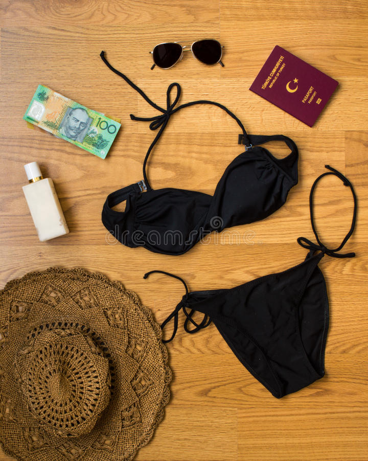 Holiday preparation. For summer, accessories stock images