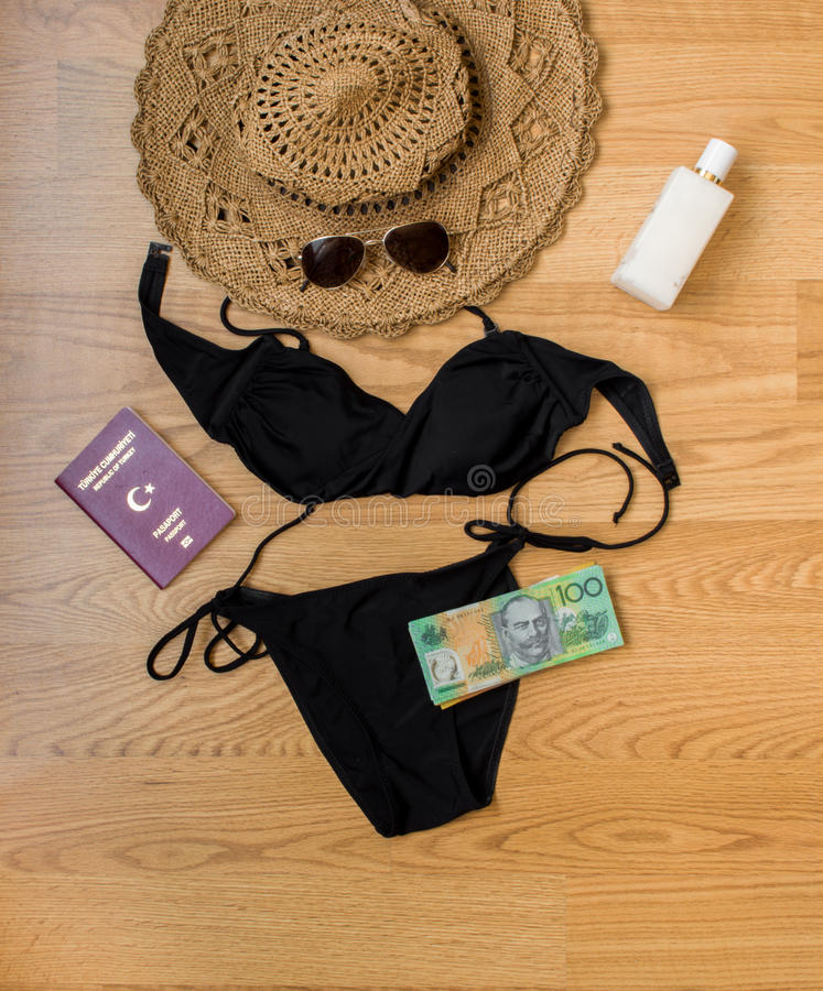 Holiday preparation. For summer, accessories royalty free stock photo