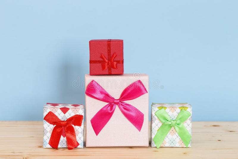 Holiday presents stock photos