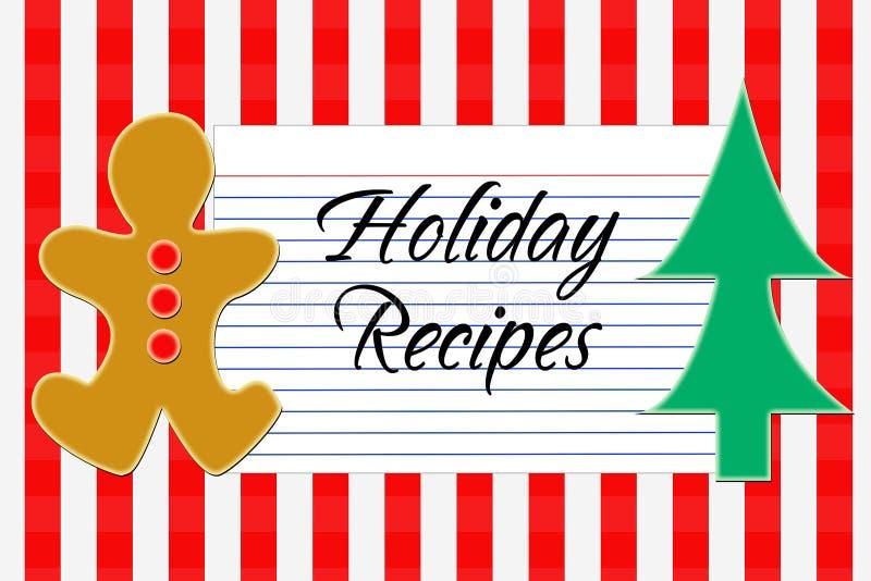Download Holiday Recipe Card stock illustration. Illustration of tree - 7038818