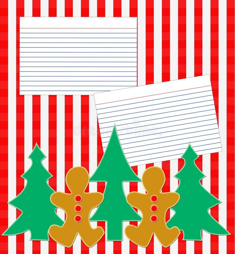 Holiday Recipe Layout Stock Photo