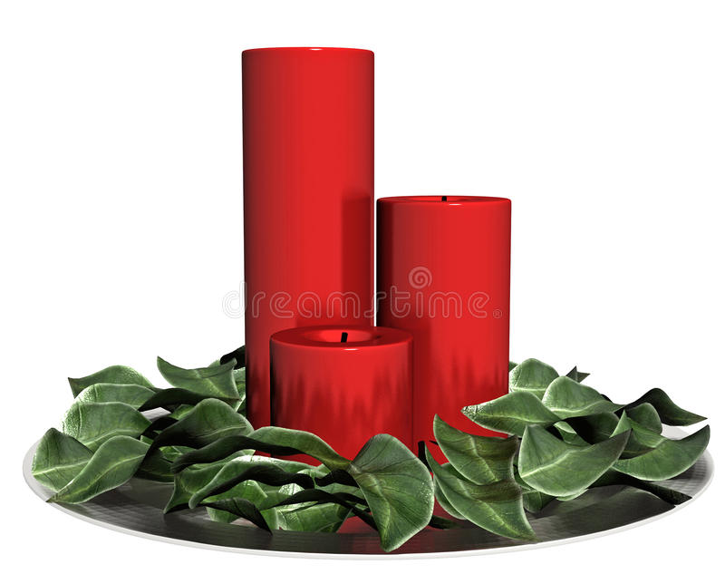 Download Holiday Red Candles Stock Images - Image: 27090324