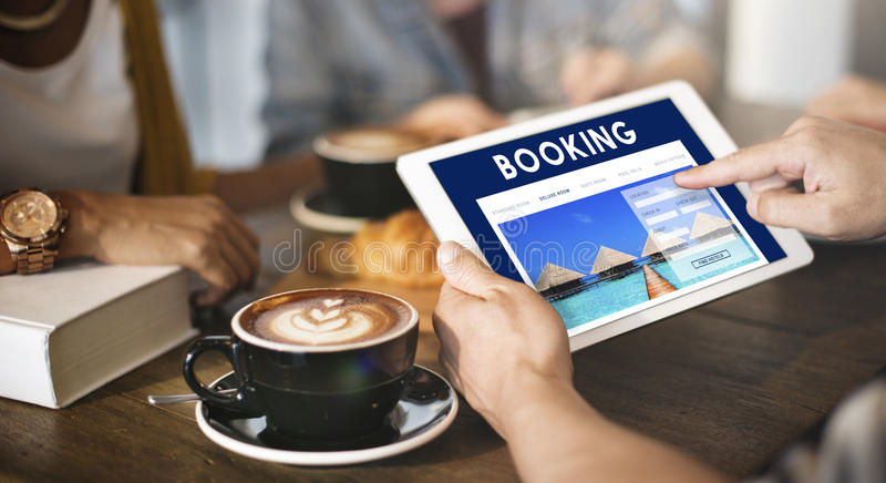 Holiday Reservation Website Interface Concept royalty free stock photos