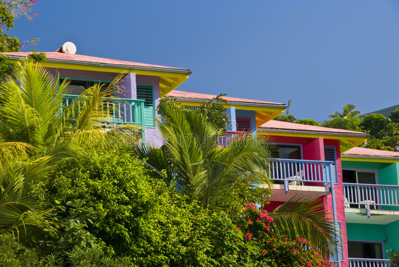 Holiday resort accommodation royalty free stock images