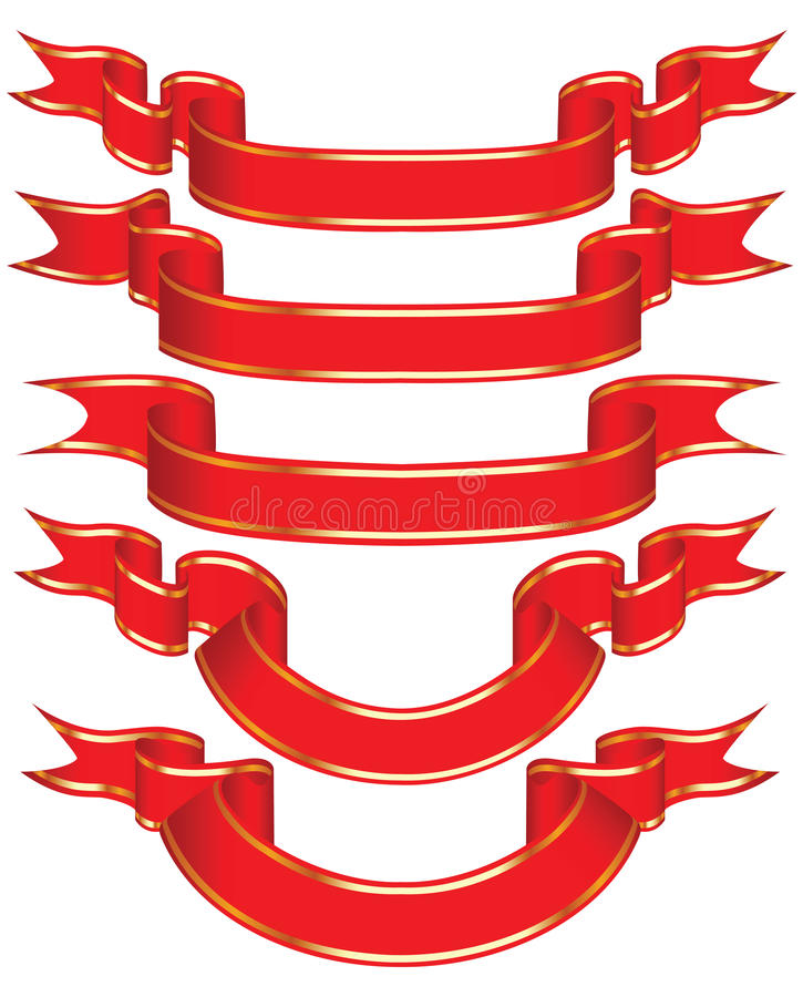 Holiday ribbon. royalty free stock photos