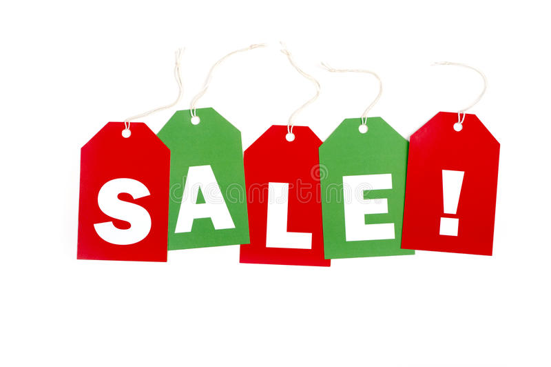 Holiday SALE tags royalty free stock image