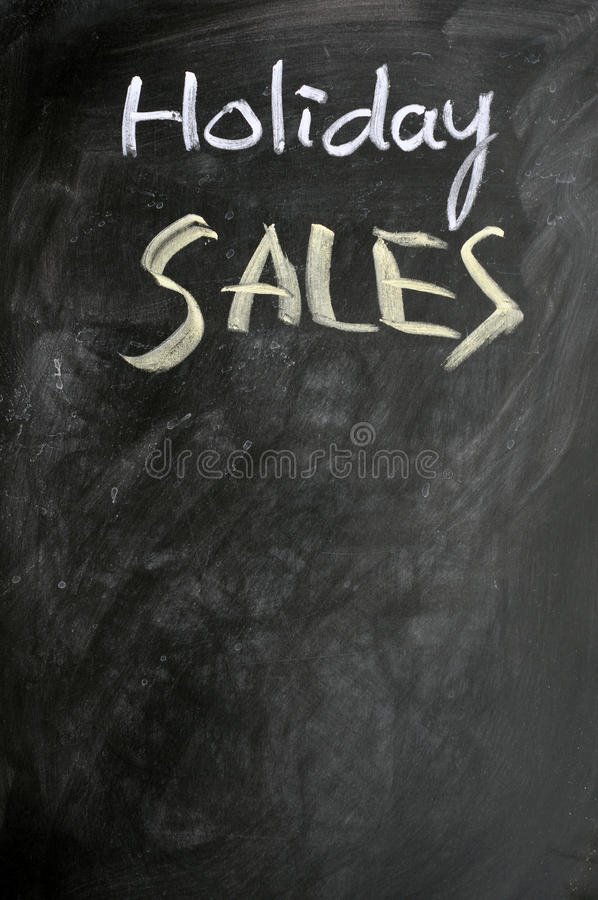 Download Holiday Sales Written On A Blackboard Royalty Free Stock Photo - Image: 22535335