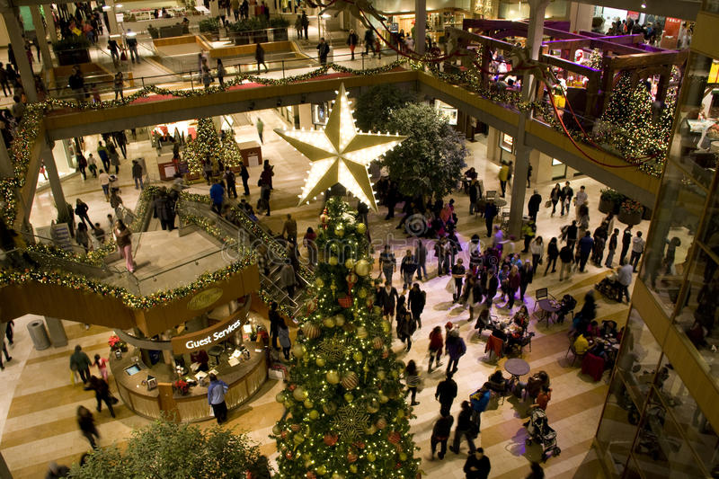 Holiday shopping mall royalty free stock images