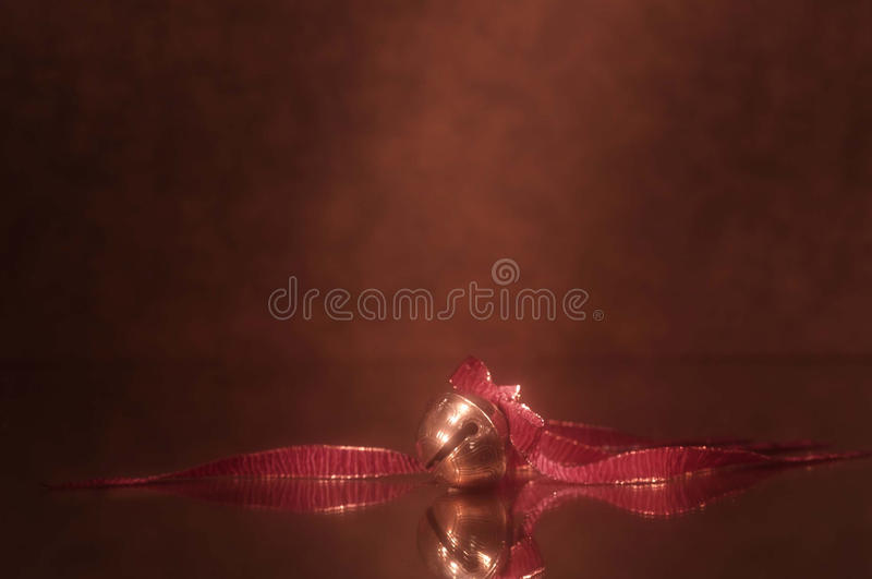 Download Holiday Sleigh Bell With Red Ribbon Stock Image - Image: 14193793