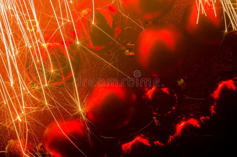 Holiday sparker. Glowing holiday sparker motion blur royalty free stock photo