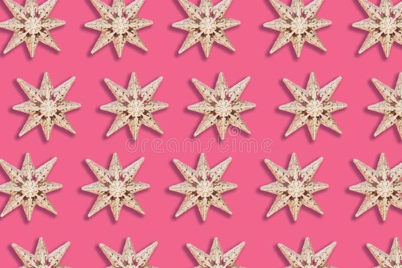 Holiday star pattern royalty free stock photo