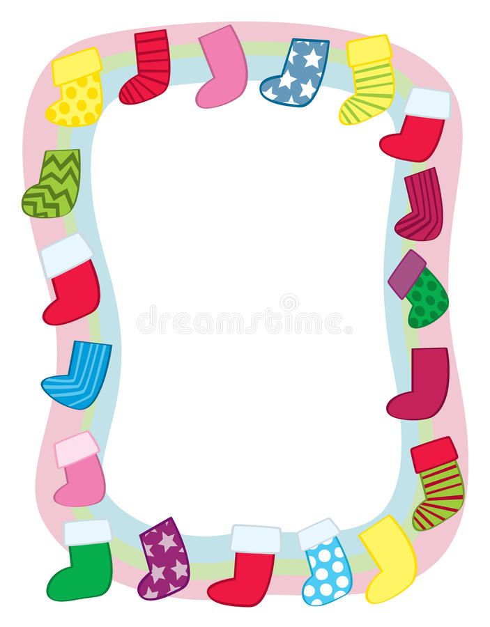 Download Holiday Stocking Border stock vector. Image of silly - 27842703