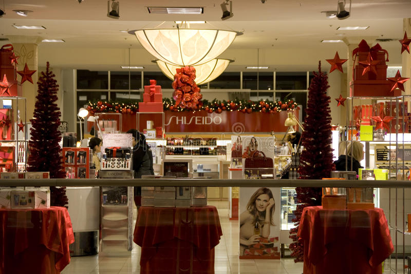 Holiday store stock image