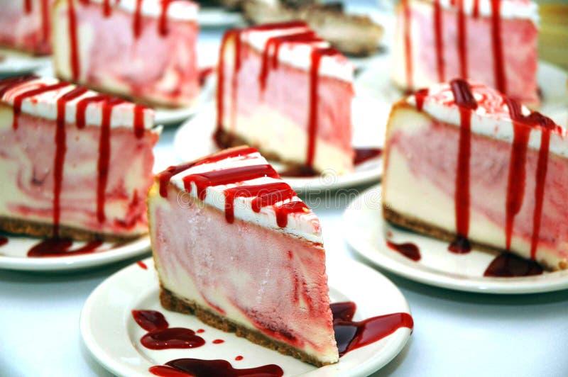 Holiday Strawberry Cheesecake stock photography