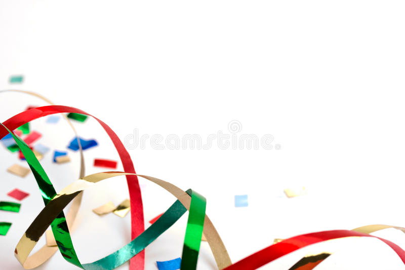 Holiday Streamers And Confetti 1 Stock Images