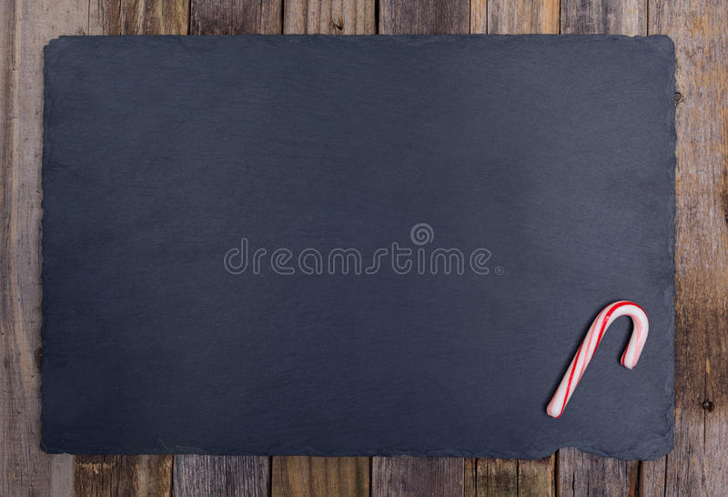 Holiday striped candy cane stock photo
