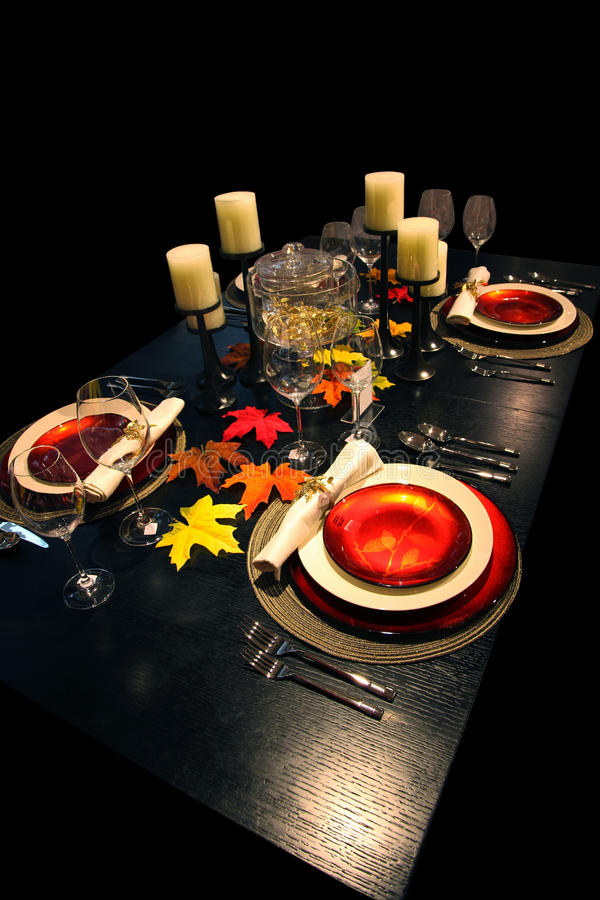 Download Holiday Table stock image. Image of autumn, eating, glass - 33797831