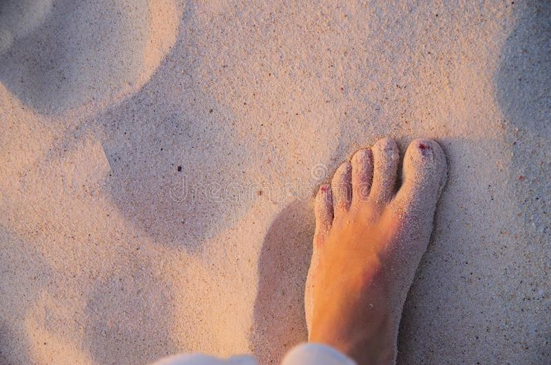 Holiday toes stock photo