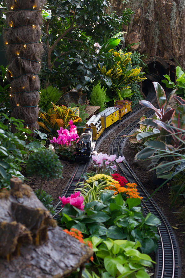Holiday Train Show. At the New York Botanical Garden in the Bronx stock photos