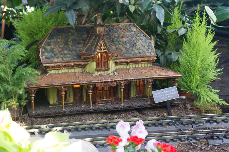 Holiday Train Show. At the New York Botanical Garden in the Bronx stock images