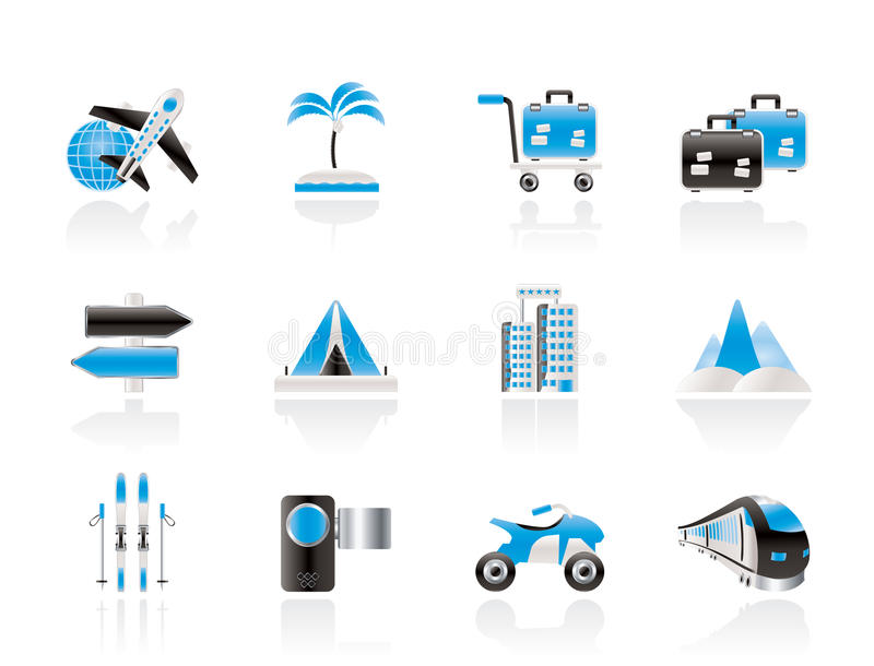 Download Holiday Travel And Transportation Icons Royalty Free Stock Photography - Image: 21649957