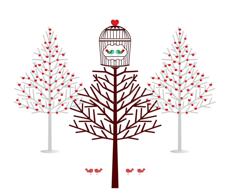 Holiday treehouse for birds royalty free illustration
