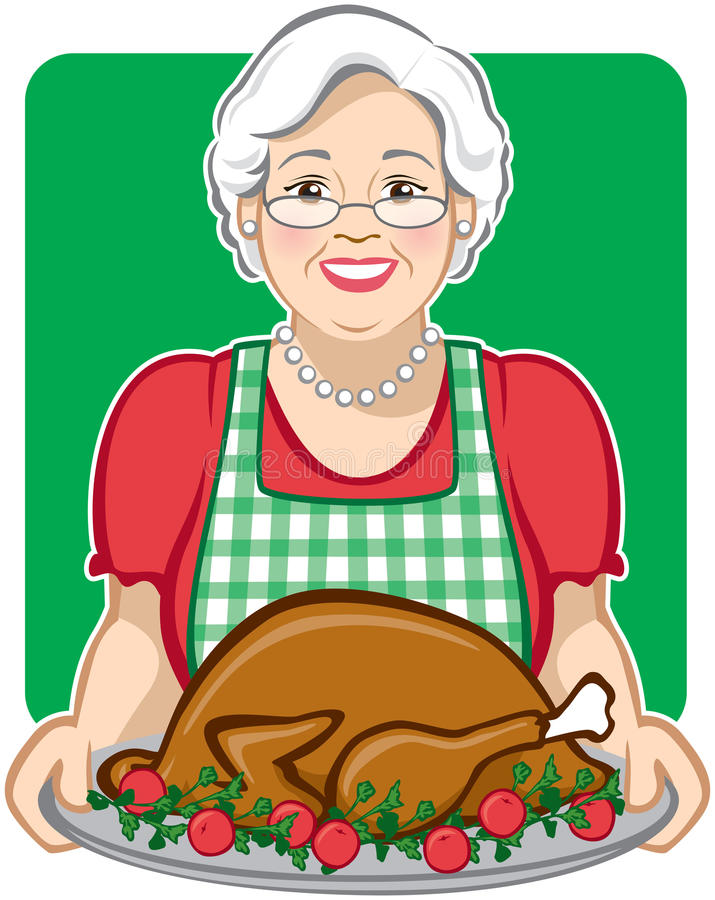Download Holiday Turkey stock vector. Image of white, lady, cook - 11971214