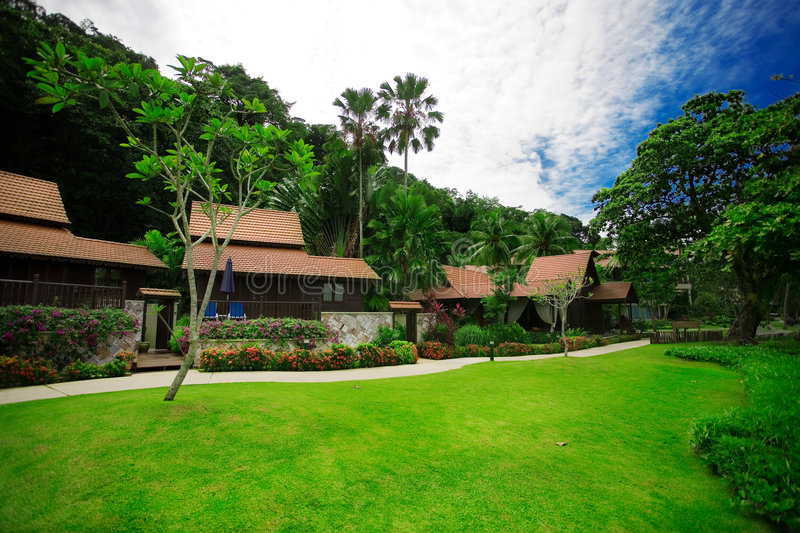Download Holiday units stock photo. Image of green, malaysia, cottages - 4386120