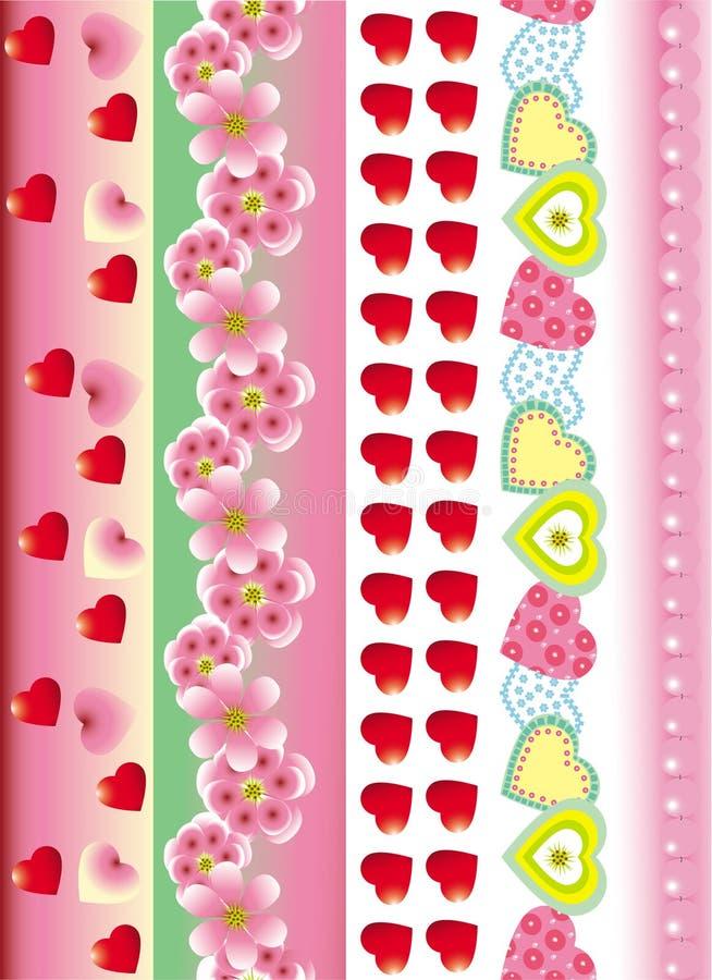 Holiday valentine border, royalty free stock images