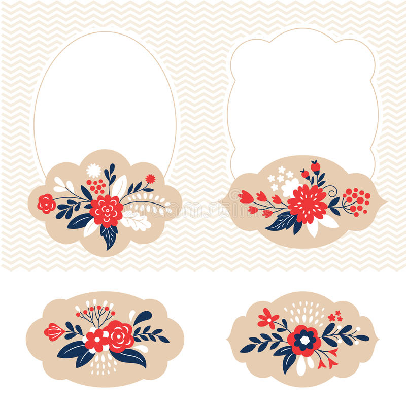 Holiday vector collection, cute frames vector illustration