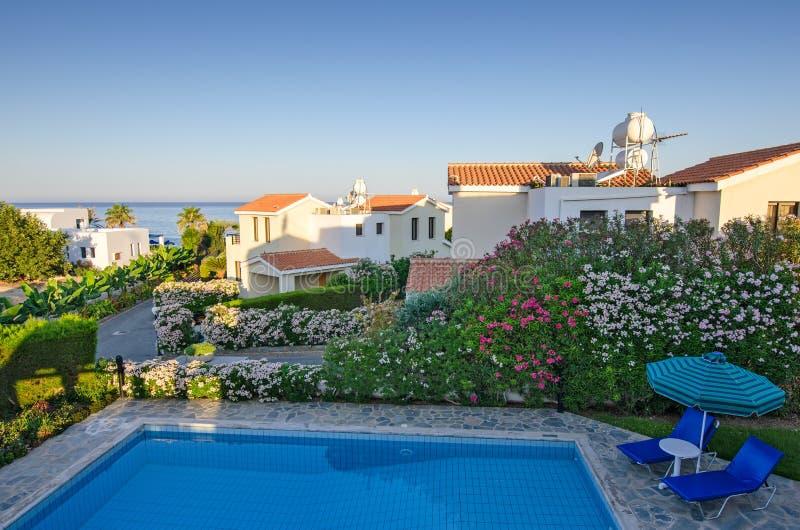 Holiday villas on Cyprus stock photos