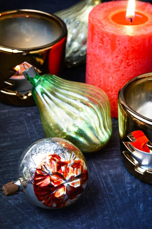 Christmas holiday decorations royalty free stock images