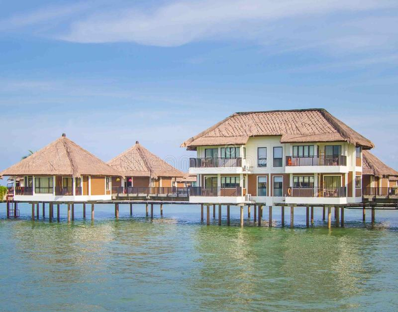 Holiday water chalets. In Malaysia stock photo