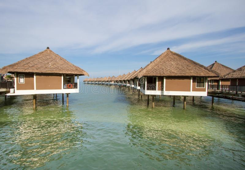 Holiday water chalets. In Malaysia stock photography