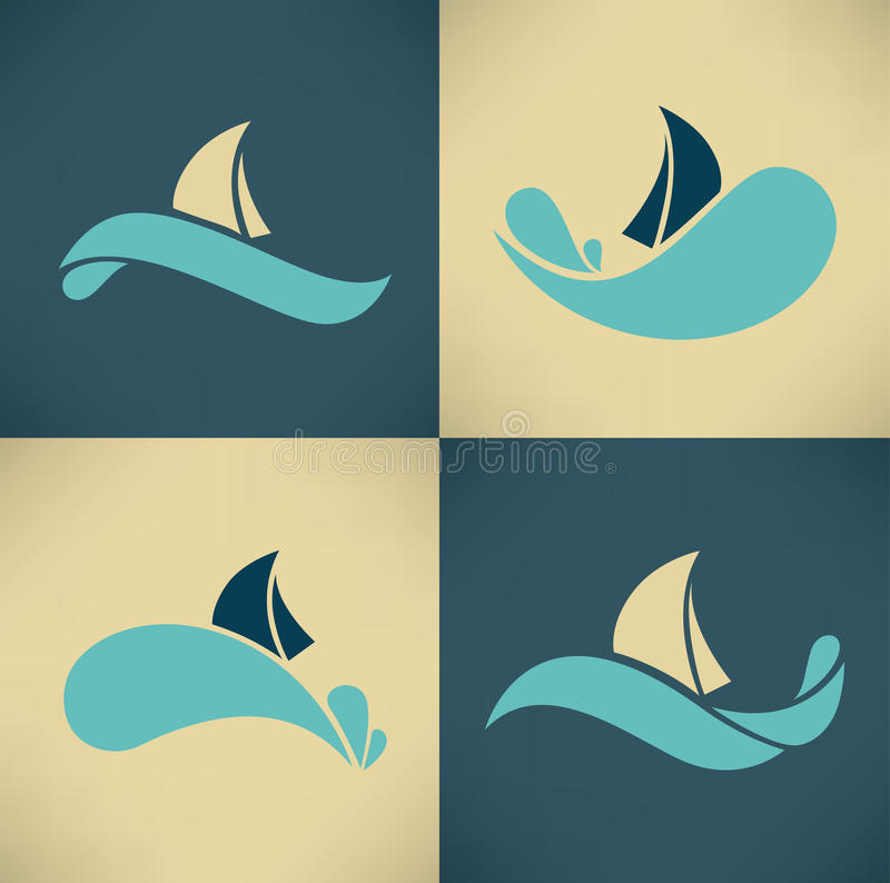 Holiday on water royalty free illustration